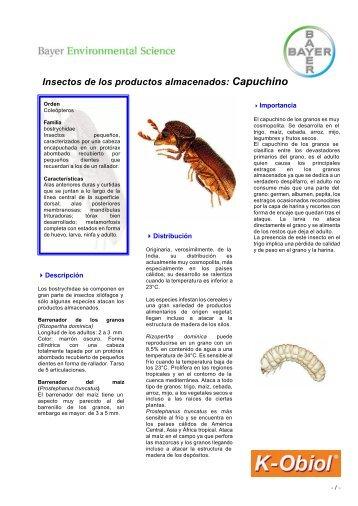 Ficha Capuchino de los granos - Bayer Pestcontrol Expert