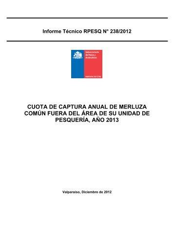 INFORME TECNICO (R - Subsecretaría de Pesca