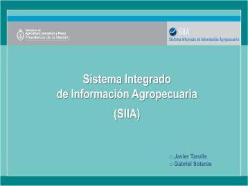 Sistema Integrado de Información Agropecuaria - Prosaponline.gov.ar