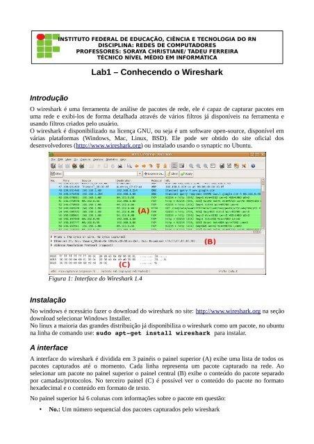 Lab1 – Conhecendo o Wireshark