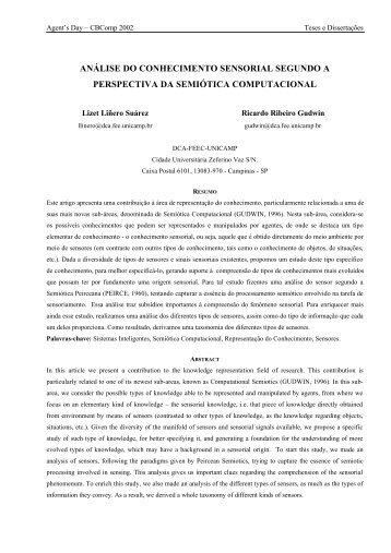 Análise do Conhecimento Sensorial segundo a ... - DCA - Unicamp