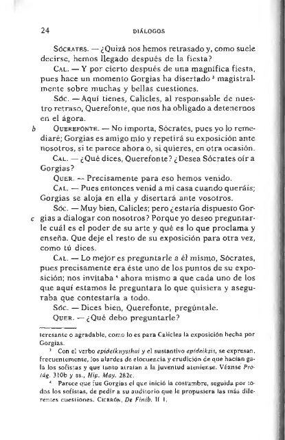 Gorgias Caucles Sócrate