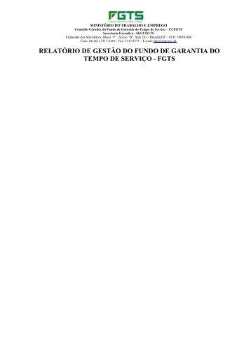 Relatório de Atividade de Gestão/2007 - Marca do Governo Federal ...