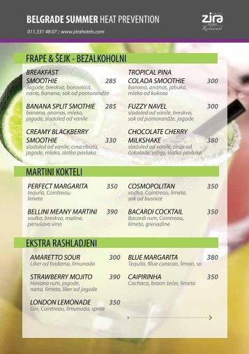 belgrade summerheat prevention frape & šejk - bezalkoholni martini ...