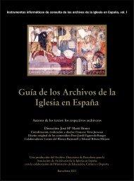 Guia de los Archivos de la Iglesia en España - Ministerio de ...