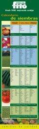 Calendario de siembras