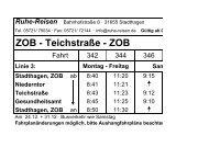 Fahrplan Linie 3 - Ruhe-Reisen