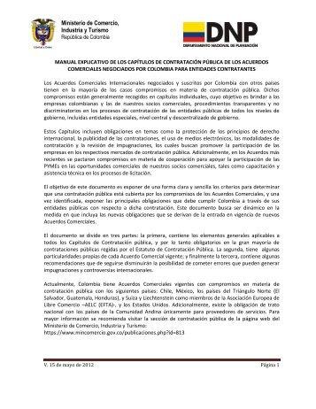 Manual explicativo de acuerdos comerciales - Colombia Compra