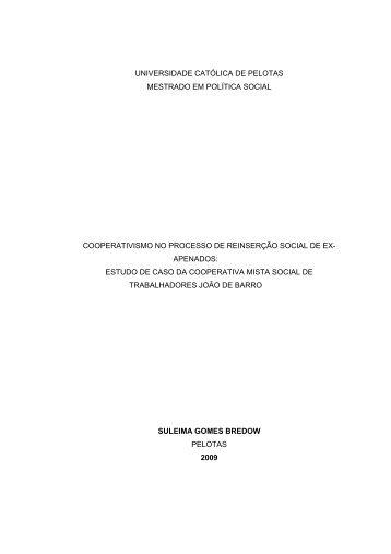 apenados - Universidade Católica de Pelotas