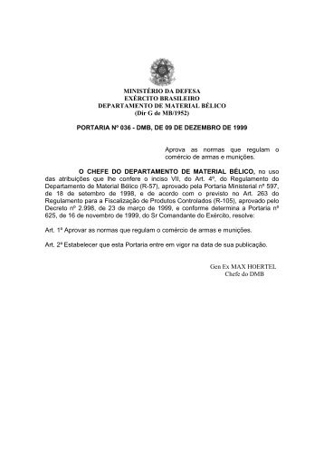 PORTARIA Nº 036 - DMB, DE 09 DE - Ministério Público do Distrito ...