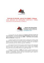 NOVOS FUZIS DE ASSALTO IMBEL 5.56mm