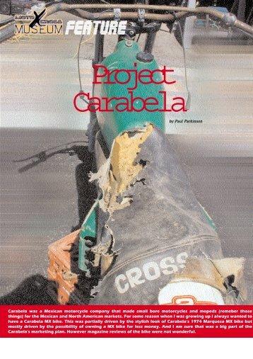 Project Carabela - Moto X Museum
