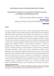 área temática: educação e relações etno-culturais pluralidade ...