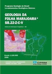 PROGRAMA GEOLOGIA DO BRASIL Contrato CPRM- UFPA Nº