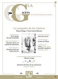 La Gaceta del FCE, diciembre de 2003 - Fondo de Cultura Económica