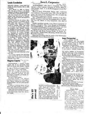 Obituaries C - New Market Historical Society