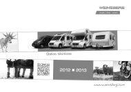 Autocaravanas y caravanas Weinsberg Datos Técnicos - M3