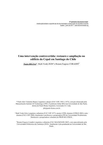 Uma intervenção controvertida - DOCOMOMO Brasil