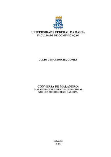 Monografia - Faculdade de Comunicação da UFBA - Universidade ...