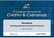 Biometría. Alta Seguridad para la Industria Financiera. - SINACOFI