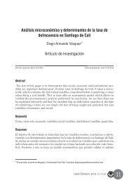 Análisis microeconómico y determinantes de la ... - Universidad Libre