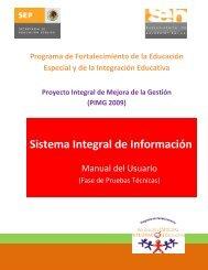 Manual del Usuario - Educación Especial