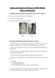Captura de imagens térmicas no HUAP (Rotina diária e ... - Visual Lab