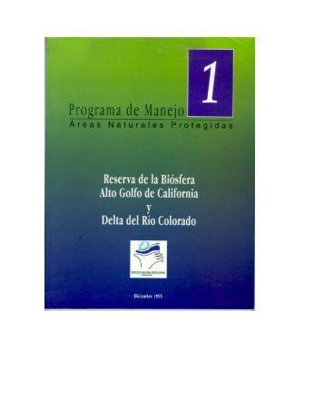 programa de manejo alto golfo de california y delta del rio colorado