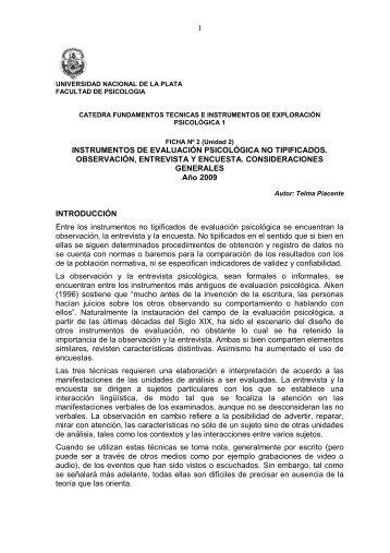 entrevista - Facultad de Psicología - Universidad Nacional de La Plata