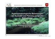 Hydromorphologische Belastungen – zur Auswahl ... - Ruhrverband