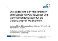 Die Bedeutung der Verordnungen zum Schutz von ... - Ruhrverband