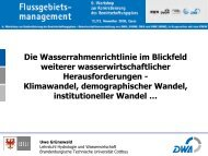 Klimawandel, demographischer Wandel - Ruhrverband