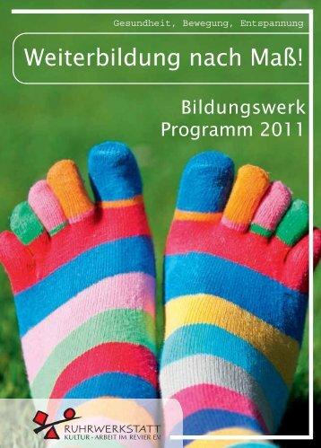 Gesundheits- und Bewegungs-Programm der Ruhrwerkstatt