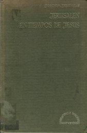 Jerusalén en Tiempos de Jesús, por Joachim ... - El Mundo Bíblico