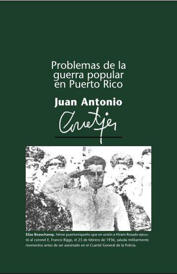 Problemas de la guerra popular en Puerto Rico - Centro de ...