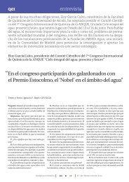 ENTREVISTA a Eloy García Calvo - Foro Química y Sociedad