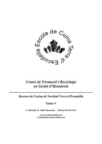 recetas cocina navidad tomo v original - Terra d'Escudella