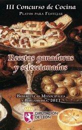 Recetas ganadoras y seleccionadas - Instituto Leonés de Cultura