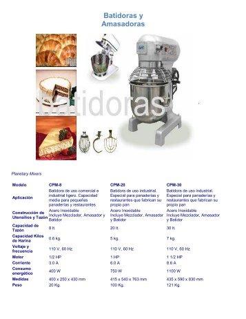 Batidoras y Amasadoras - todo refrigeración comercial