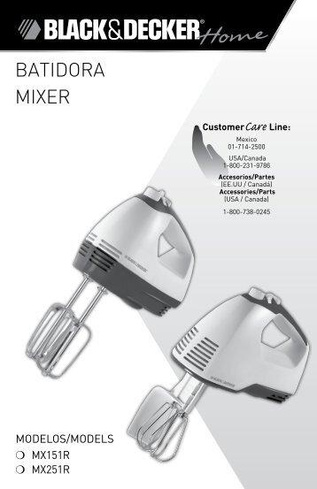 BatIdoRa MIXER - Applica Use and Care Manuals