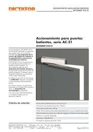 Accionamiento para puertas batientes, serie AC-21 - DICTATOR