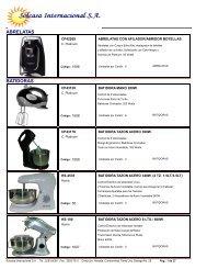 Descargar Catálogo Digital en PDF - SOLCASA INTERNACIONAL, SA