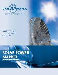 SOLAR POWER MARKET - Ruhrpumpen