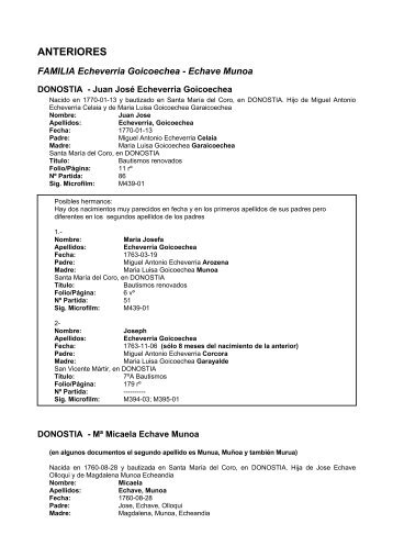 ANTERIORES - Altza.info