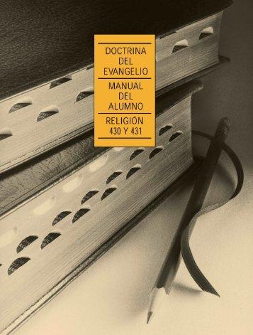 Doctrina del Evangelio Manual del alumno - bibliotecasuddotcom