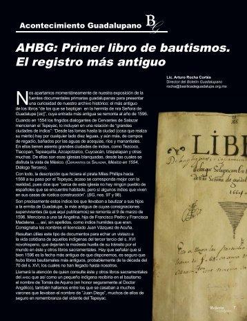 AHBG: Primer libro de bautismos. El registro más antiguo - Boletín ...
