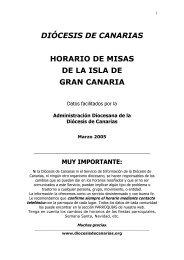 Horario de misas del arciprestazgo de Agüimes. Isla - Diócesis de ...