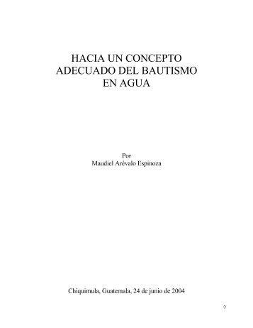 hacia un concepto adecuado del bautismo en agua - Instituto ALMA