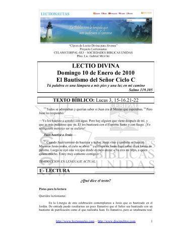 Lectionautas 2010 pdf - Pastoral Familiar Salesiana Perú