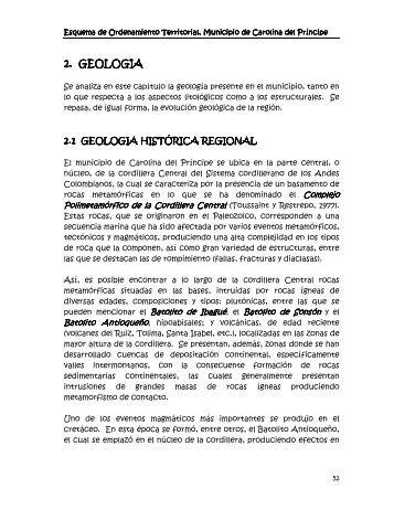 carolina del principe - antioquia - pot 2000 geologia - ESAP